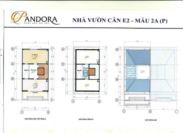 biệt thự pandora mẫu 2A tầng 5, kỹ thuật và mái