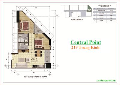 Căn hộ số 2,4 và số 6 chung cư Central Point  - diện tích 68m2.