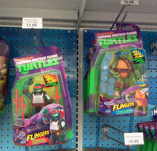 "Playmates Ninja Turtles ""Flingers"" figures"