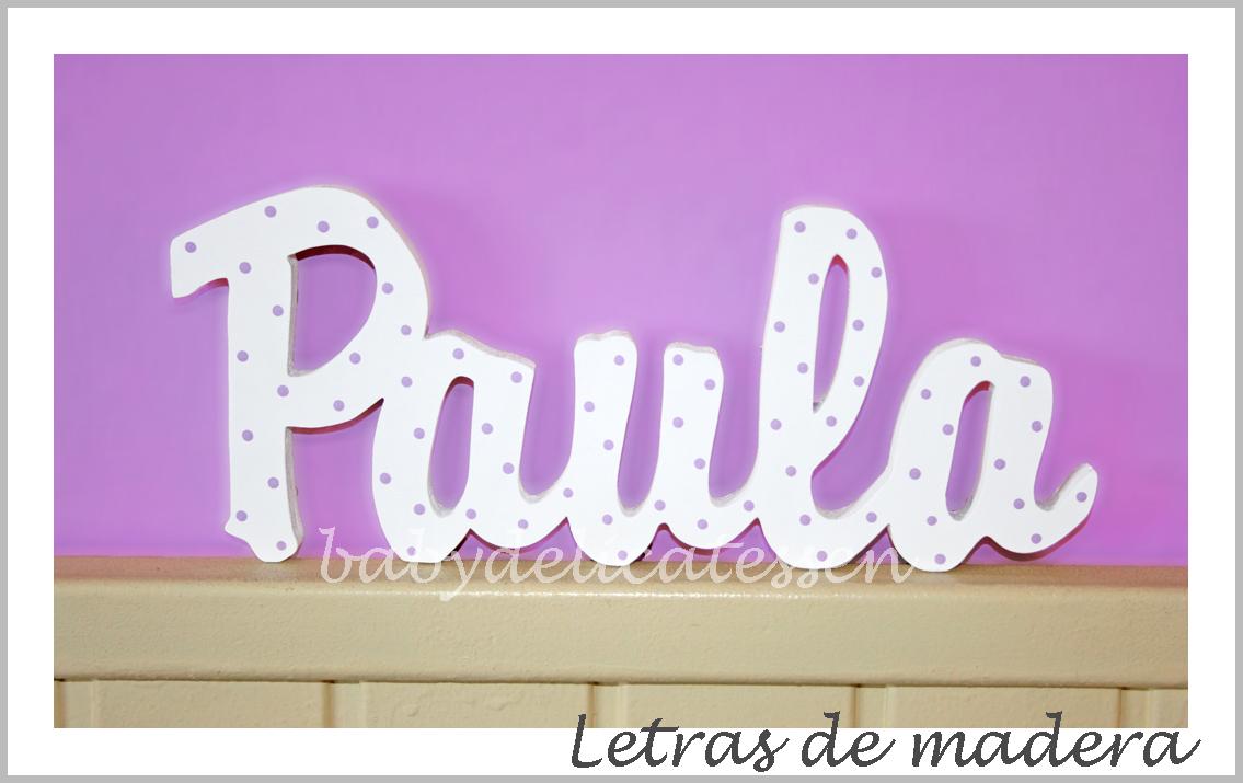 Pin baby delicatessen letras encadenadas para dariana on - Letras en madera ...