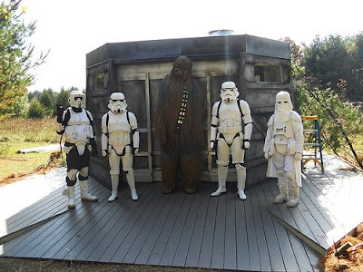Endorian Bunker with Chewbacca and Storm Troopers