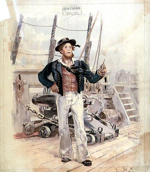 Bosun, Bo's'n, Age of sail, Boatwain's call, Whistle