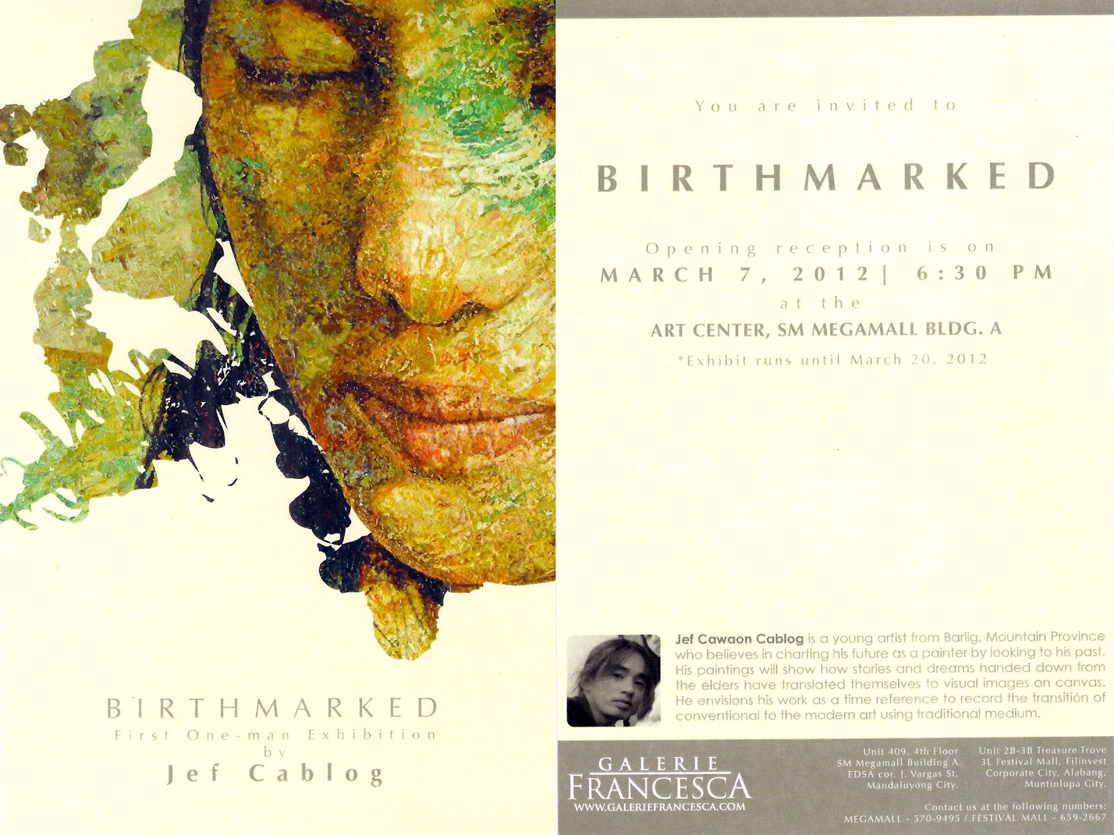 The art of jef cablog 2012 03 11 birthmarked first one man exhibition stopboris Choice Image
