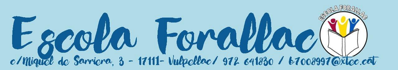 PÀGINA WEB DE L'ESCOLA FORALLAC