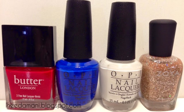 butter london come to bed red opi keeping suzi at bay opi alpine snow zoya pixie dust bar