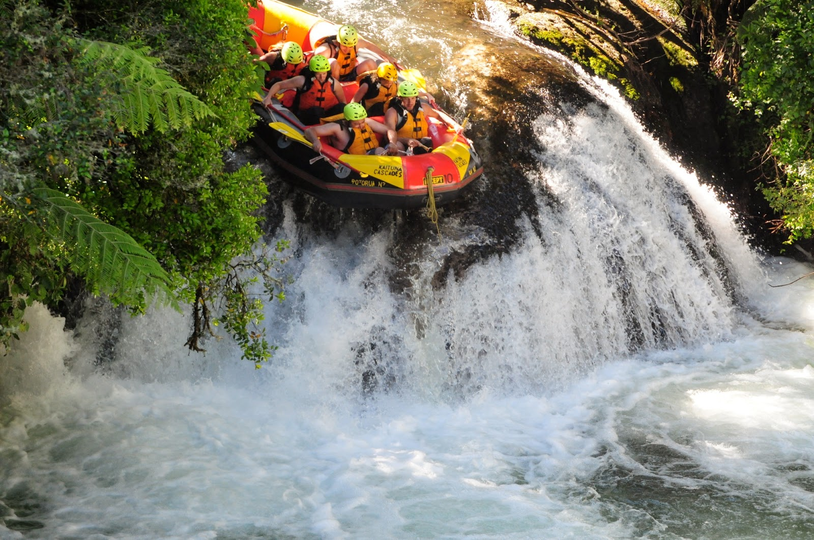White Water Rafting in Rotorua, New Zealand