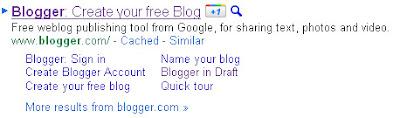 botão +1 nos resultados das buscas google