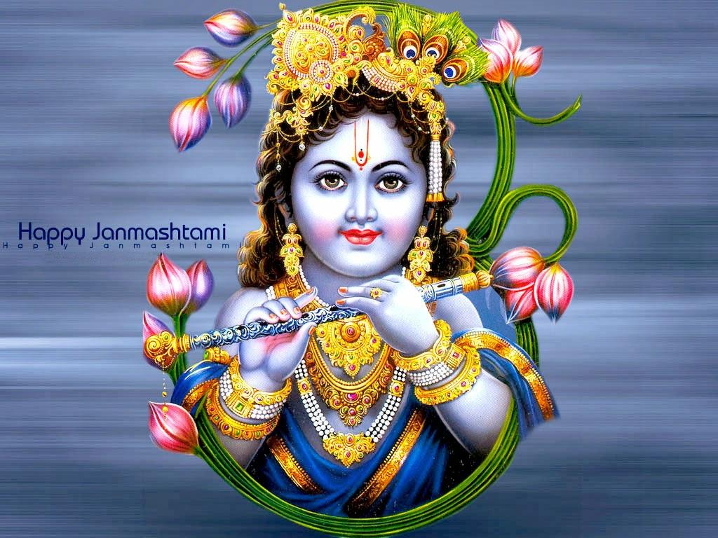 Lord Krishna happy janmashtami festival wallpapers