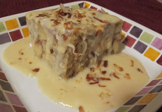 Coconut Monkey Bread Pudding