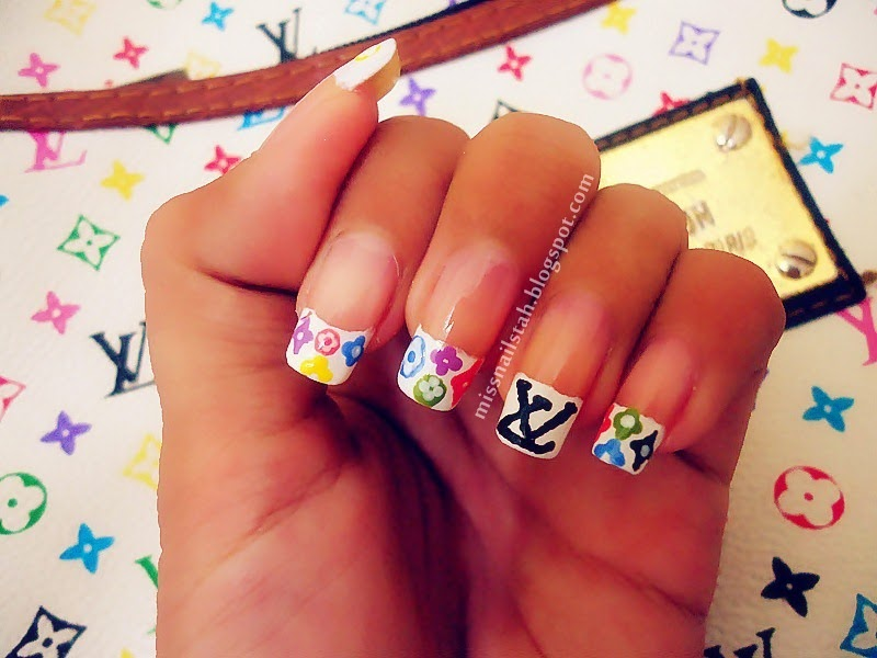 ♥ CC\'s NAILS ♥: Louis Vuitton Inspired in 3 Different Colors