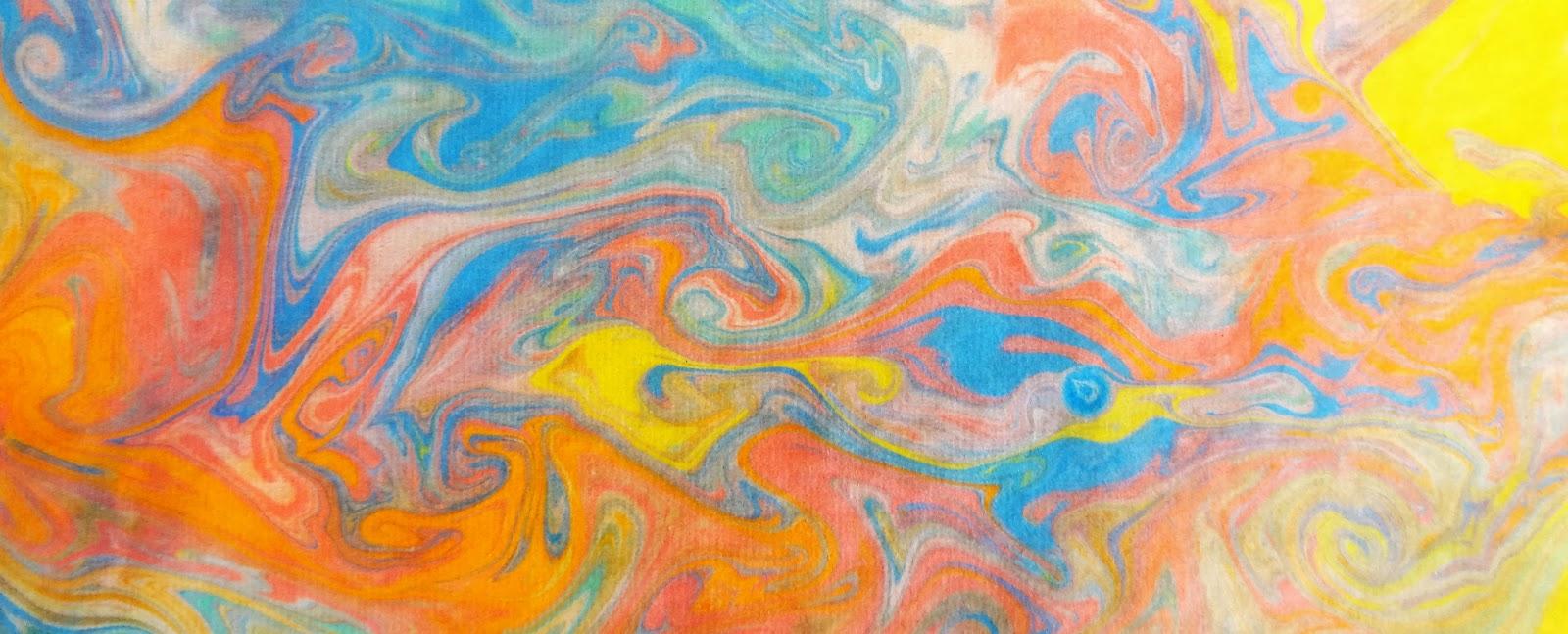 Art With Krystie Paper Marbling