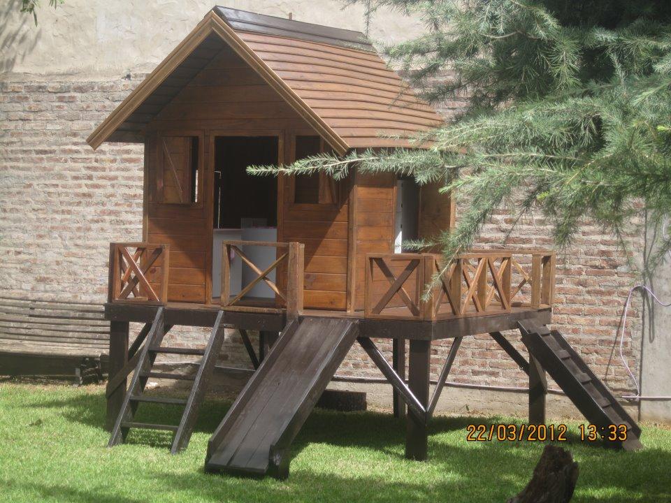 Juegos de madera para el jard n for Casita madera jardin