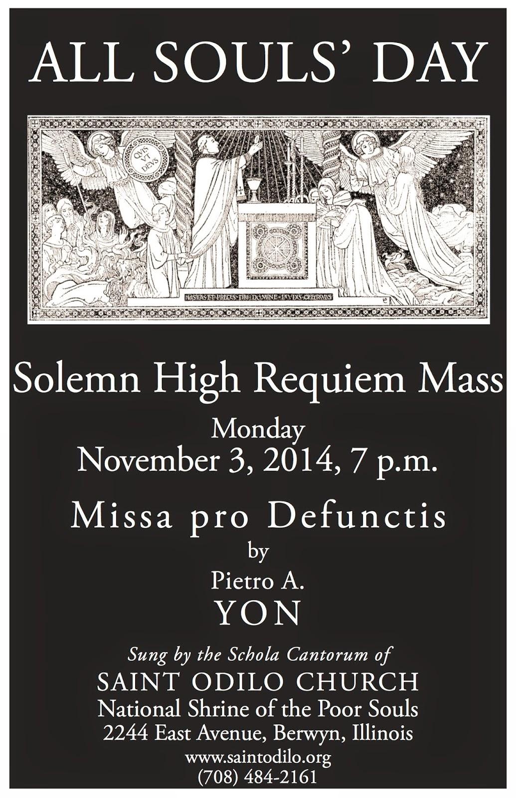 Rorate C 198 Li Event All Souls Solemn High Requiem Mass In