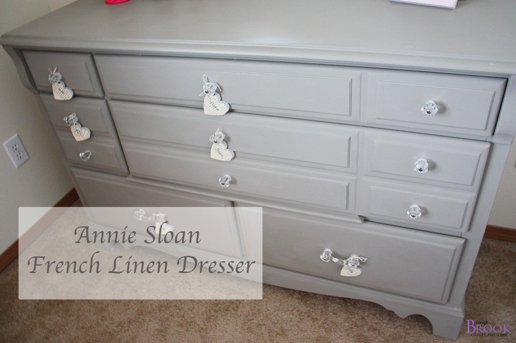 Gray Dresser Annie Sloan French Linen BeingBrook