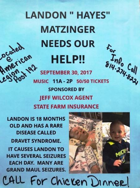 9-30 Landon "Hayes" Matzinger Benefit