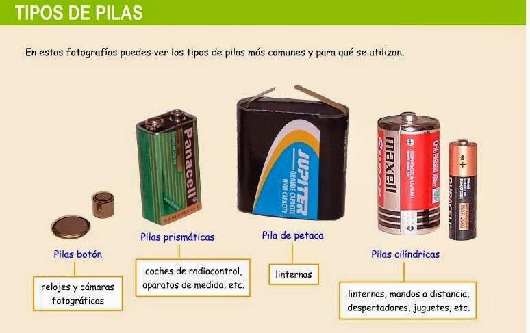 El blog de f tima las pilas - Tipos de pilas recargables ...