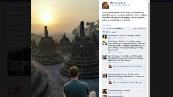 Revolusi Ilmiah - Mark Zuckerberg saat di Borobudur