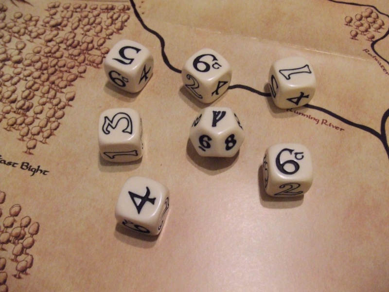 The One Ring custom dice