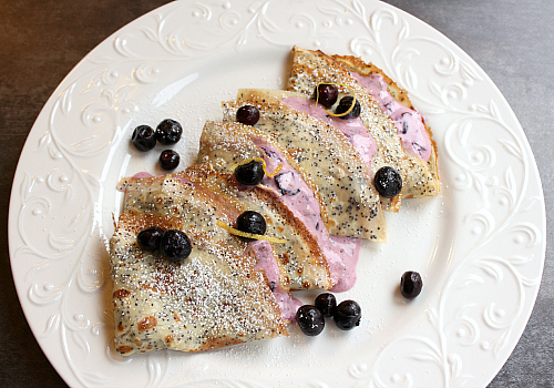 love, laurie: lemon poppy seed crepes with lemon blueberry cream ...