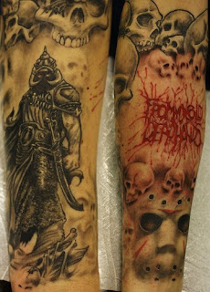 Death Themed Tattoo Arm Sleeve