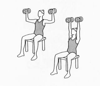 press de hombro. cuerpo en forma