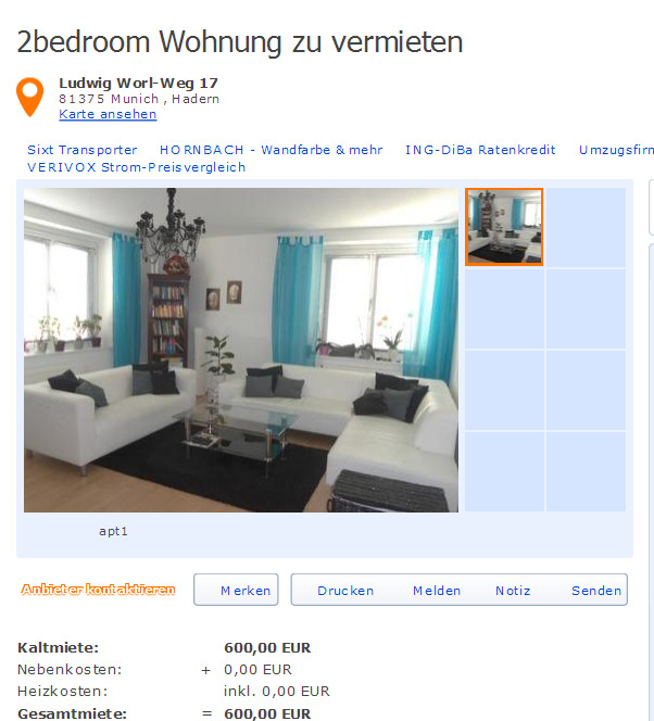 Immobilienscout24: Ludwig Worl-Weg 17 81375 Munich