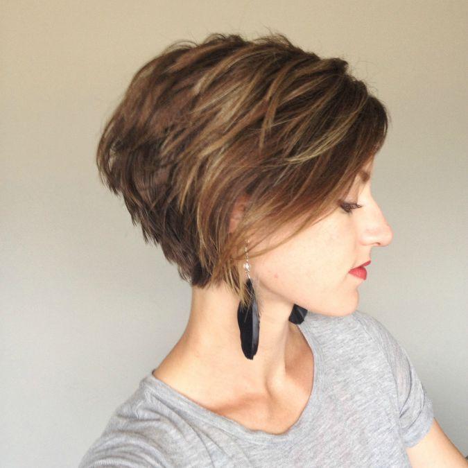 La moda en tu cabello Cortes de pelo corto estilo Bob lacio