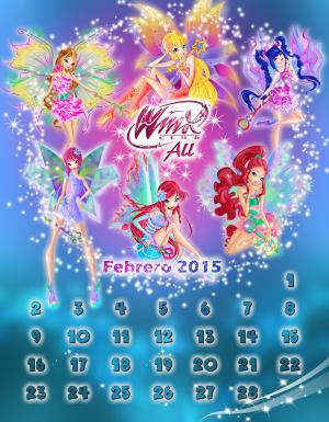 Calendario de Febrero