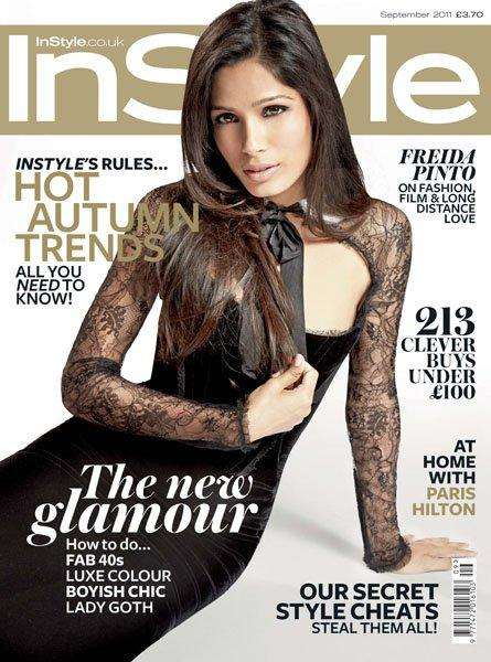 freida pinto on in style uk magazine