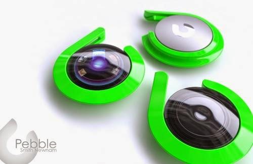 Pebble mp3 player concept, lage