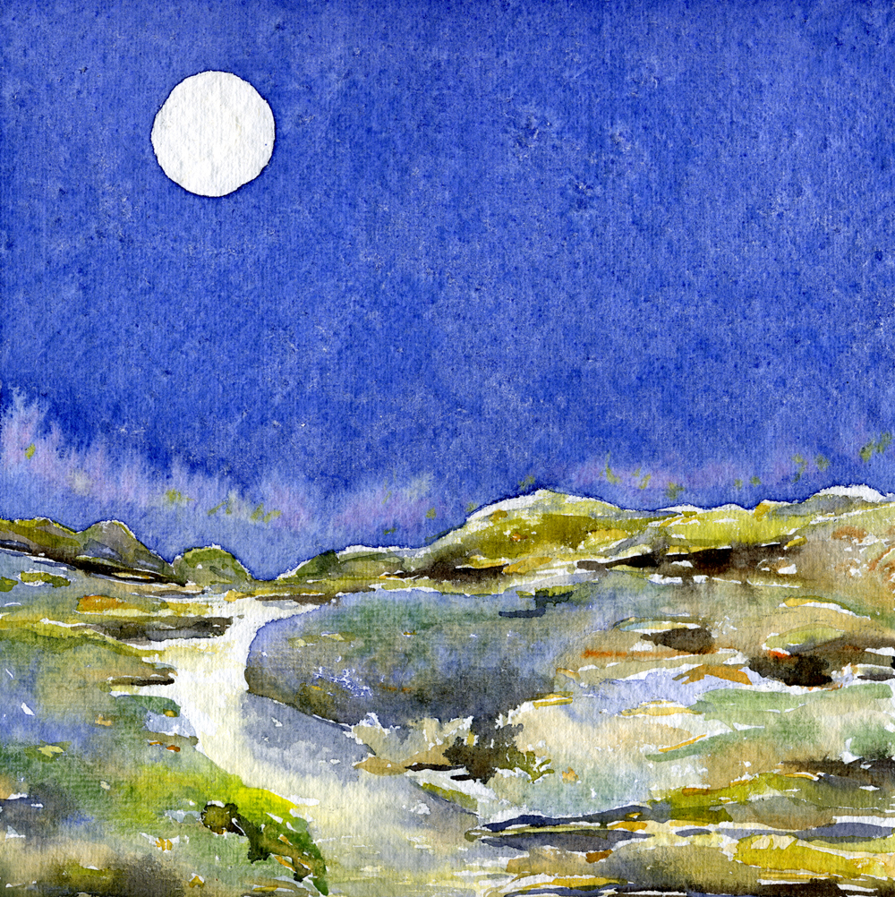 Displaying 20> Images For - Watercolor Moon...