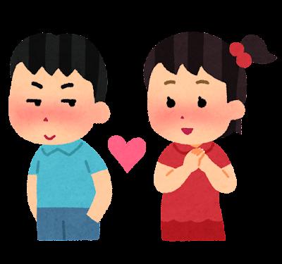 恋愛のイラスト(子供)