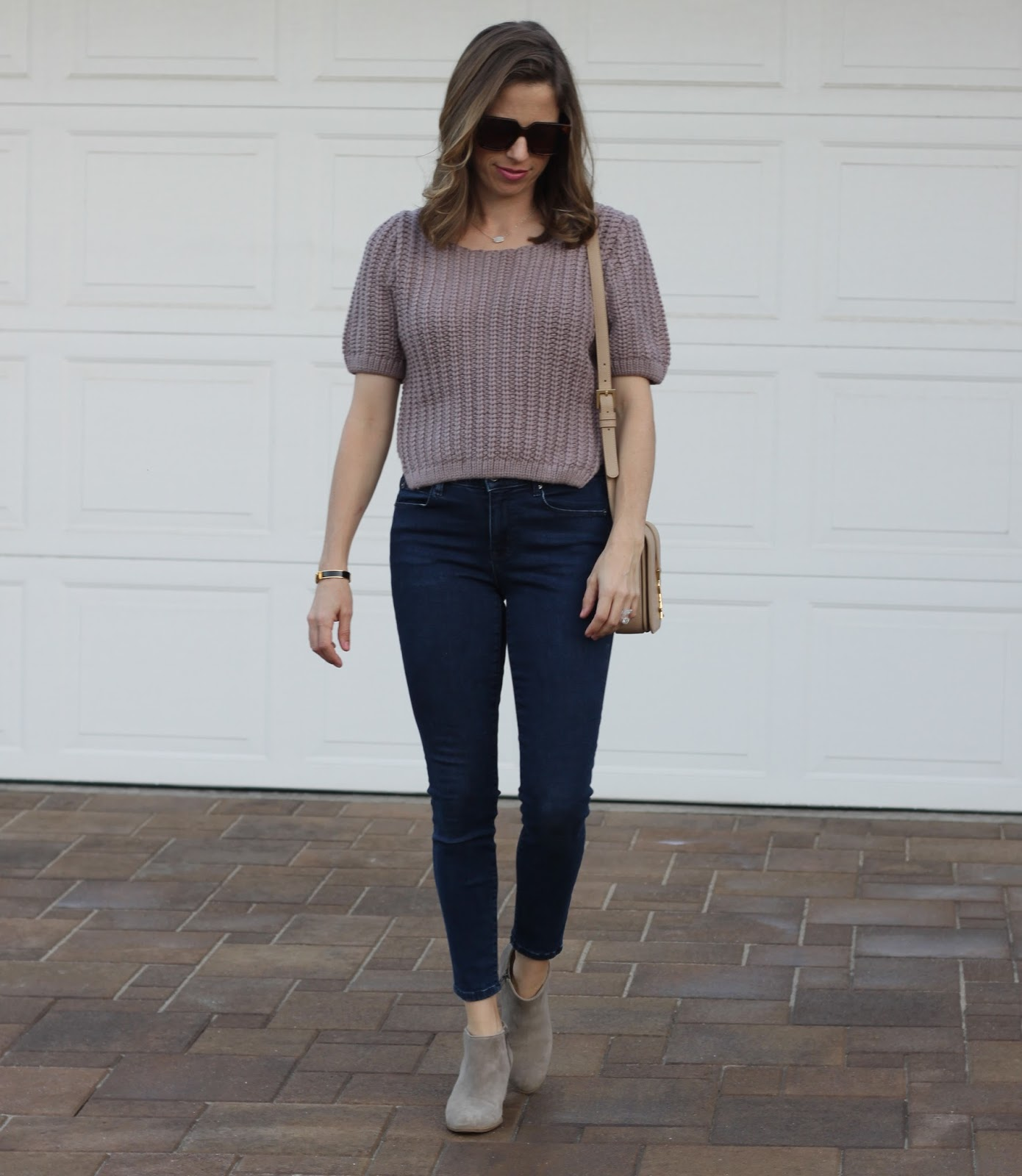 skinny jeans and sweater