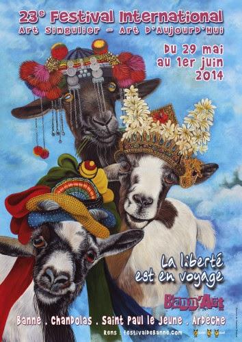 Une centaine d'artistes répartie sur Banne (dans les 4 lieux d'exposition du Fort), Saint Paul le Jeune et Chandolas. Organisé par l'association 3A. Infos pratiques: Du 29/05 au 01/06/14. http://www.festivaldebanne.com Tèl: 04 75 39 82 66