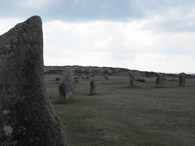 The Hurlers stone circle Cornwall