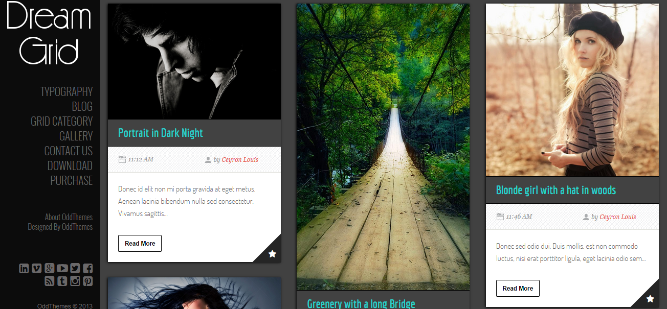 DreamGrid Responsive Free Blogger Templates