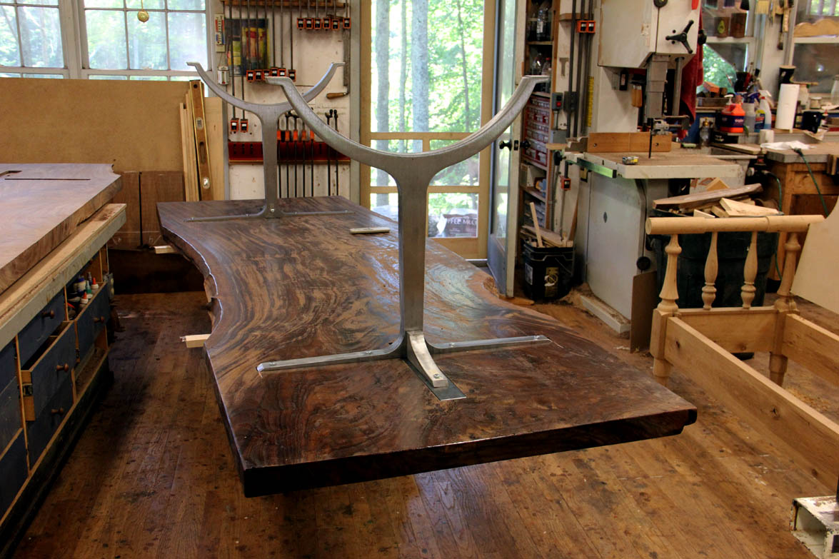 Dorset custom furniture a woodworkers photo journal for How to finish a wood slab