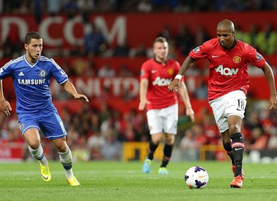 Young+hazard Manchester United v Chelsea 2013