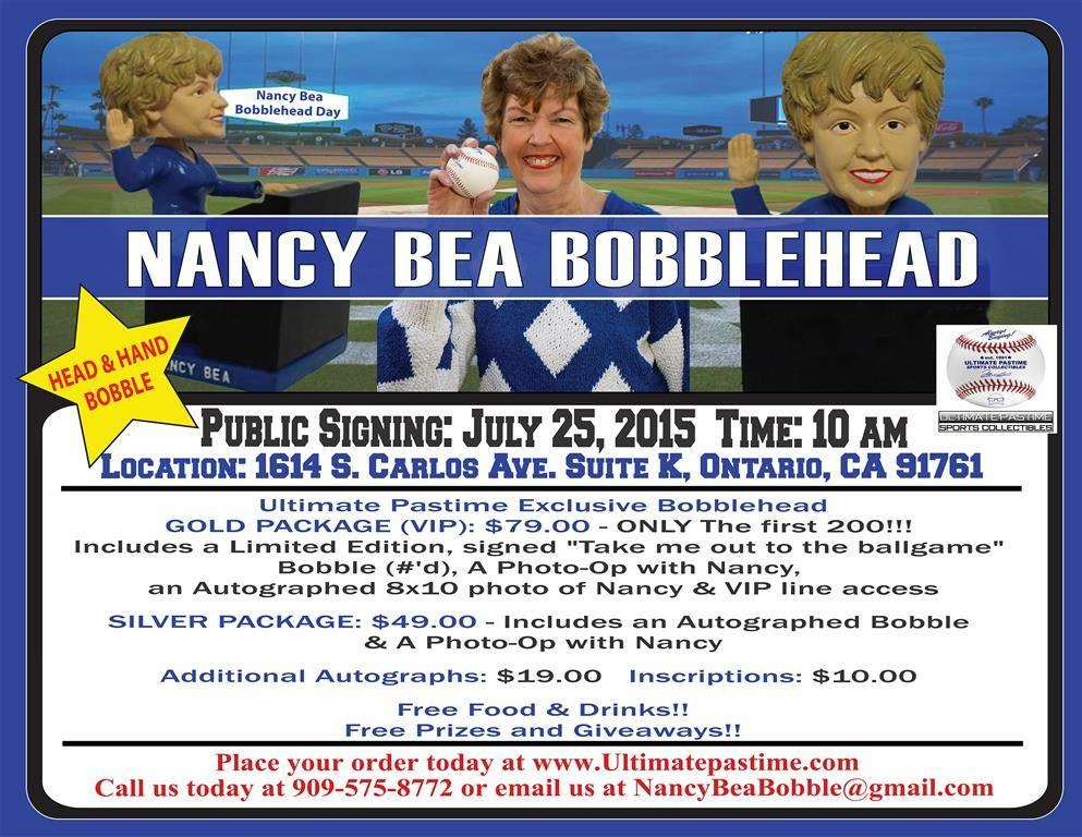 Nancy Bea Bobblehead Day!