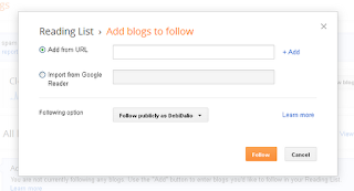 Blogger Add Blogs to Follow