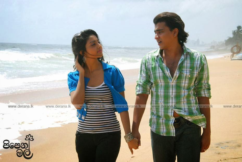 Vinu Siriwardena at beach