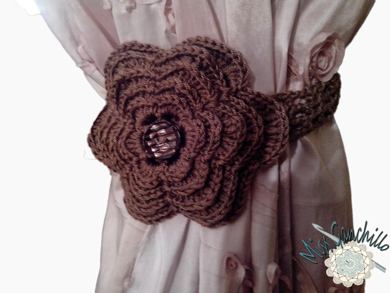 Miss ganchillo flores de ganchillo para cortinas for Decoracion hogar a crochet