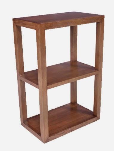 estanteria pequeña madera roble