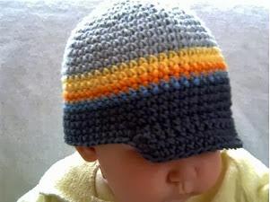 mũ len lưỡi trai cho bé