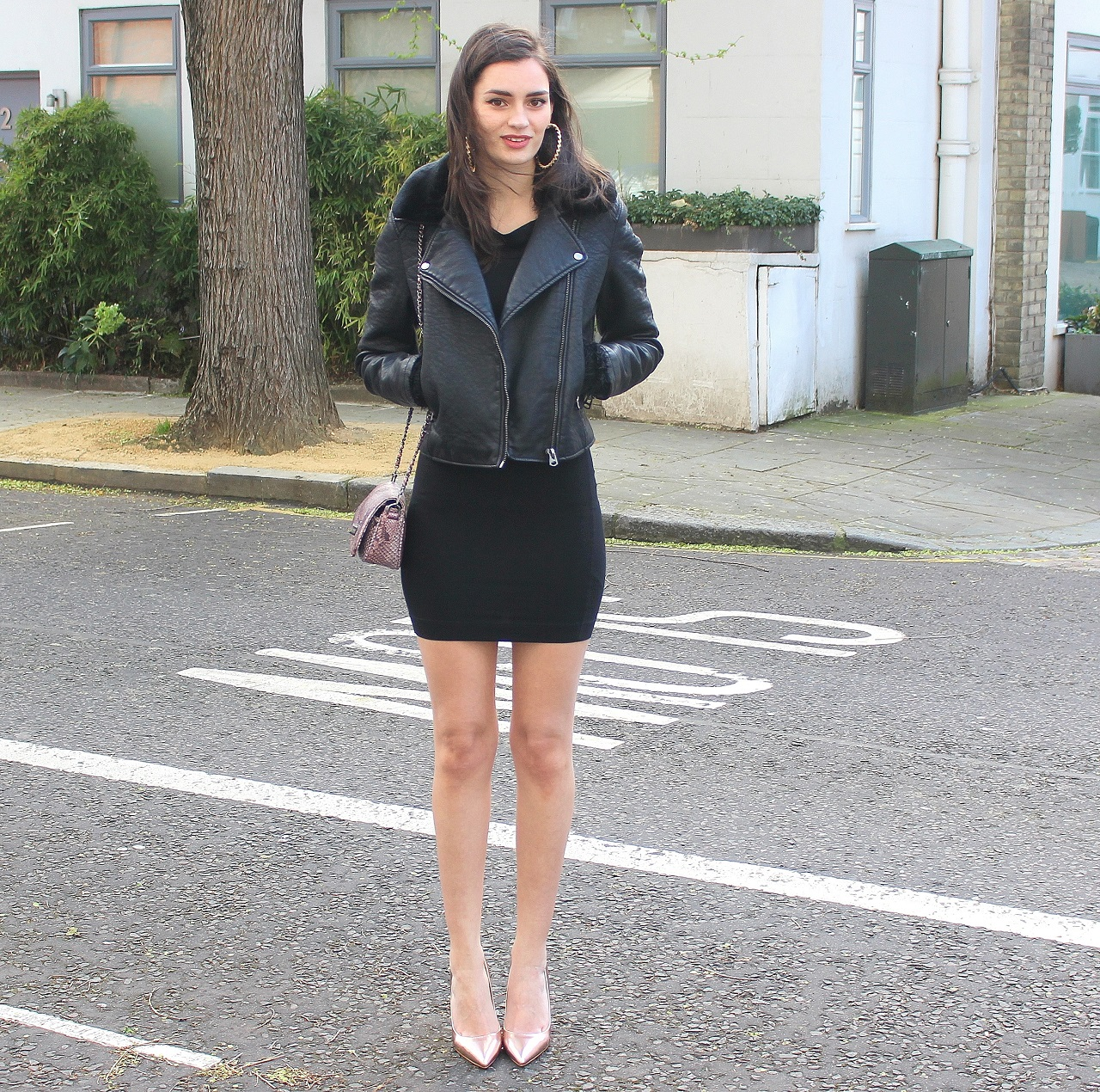 Leather Jacket Top Dress Miss Selfridge Similar Heels Dorothy Perkins Bag C O Marc B