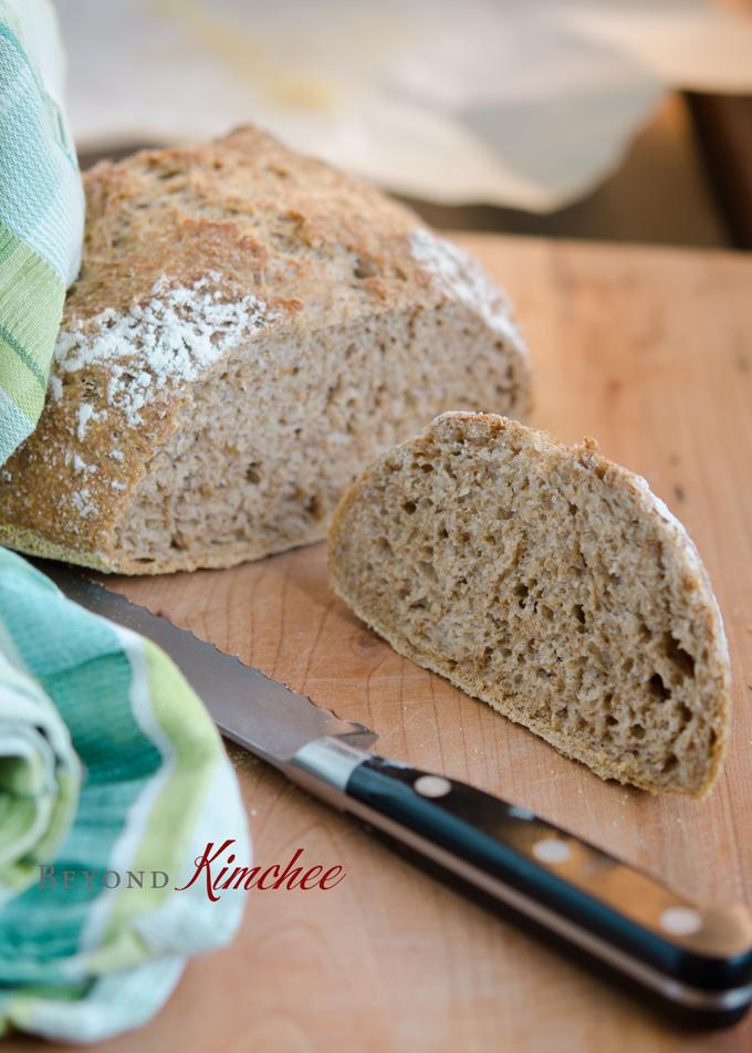 No Knead Bran Bread 12  | Korean Recipes