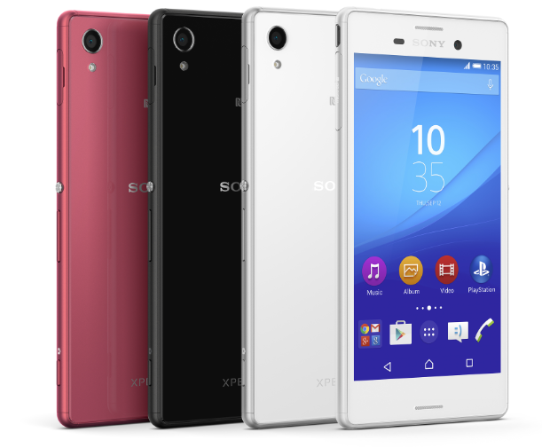 Sony Xperia M4 Aqua Color Range