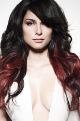 Dark Red Brown Hair with Ombre