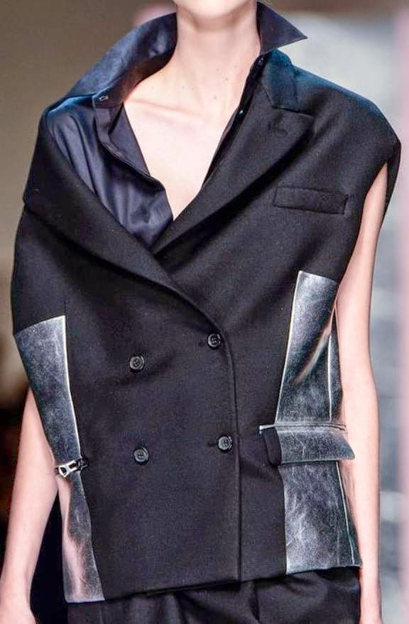 acne-autumn-winter-collection-2014-runway-catwalk-black-gilet-silver