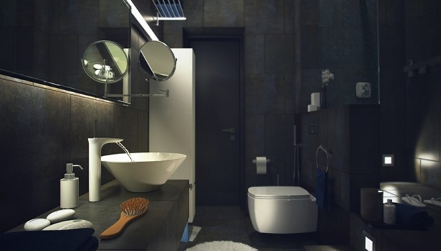 Bathroom visualization of Raw Loft Visualization by Maxim Zhukov